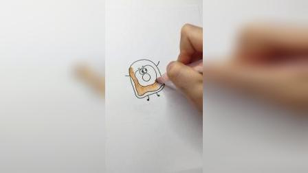 这样画鸡蛋土司才好吃#简笔画