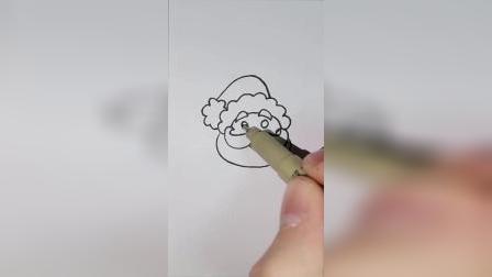 今天教你画一个圣诞老爷爷