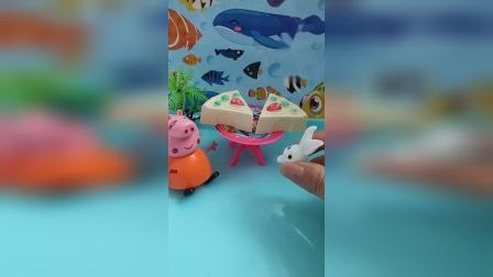 儿童玩具乐园,小兔子买披萨