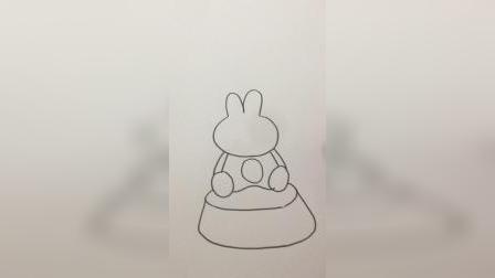 兔子蛋糕#简笔画