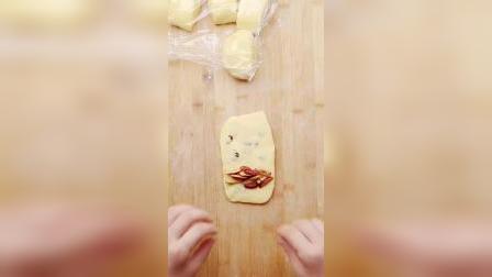 【葡萄干玉米卷】松软香甜,全家都爱!