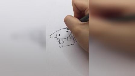 开心的玉桂狗#简笔画