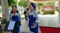 《铜钵茶歌》瑞金客家山歌协会杨小平刘春红在梅州人民广场即兴唱20191201魅力女人制作