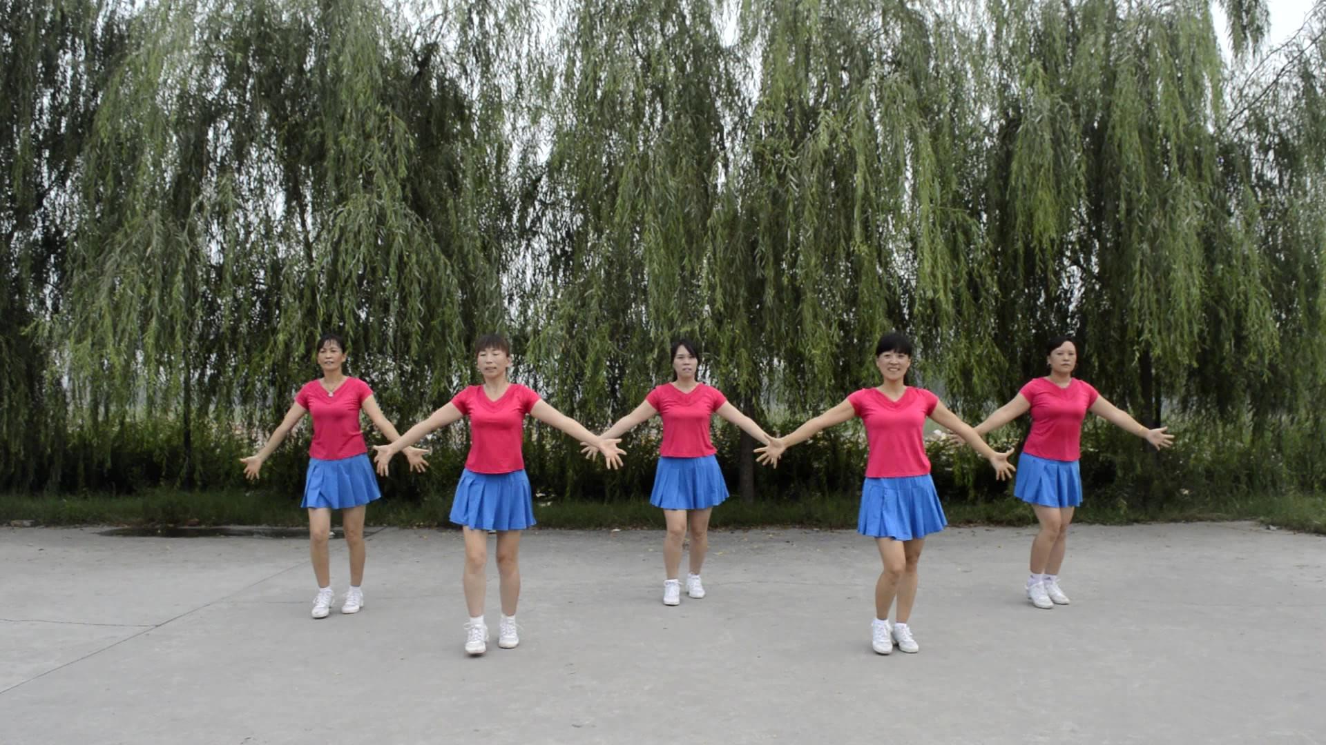 欢快版广场舞,阿姨们配上歌曲《山花朵朵开》,简直太厉害了!